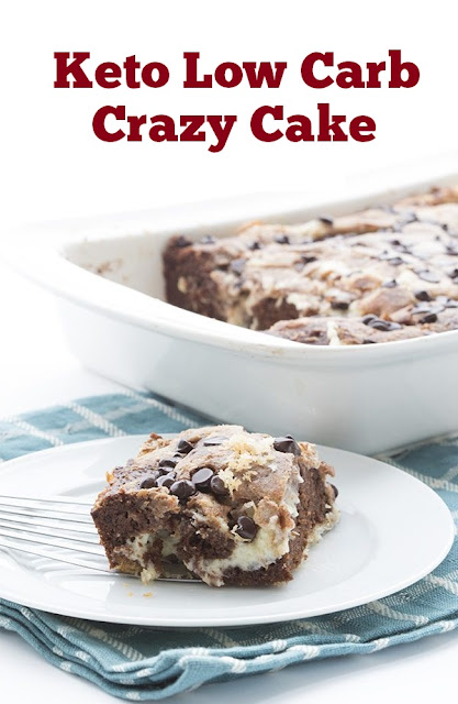 Keto Low Carb Crazy Cake #lowcarb #lowcarbcake #cake #ketochocolate