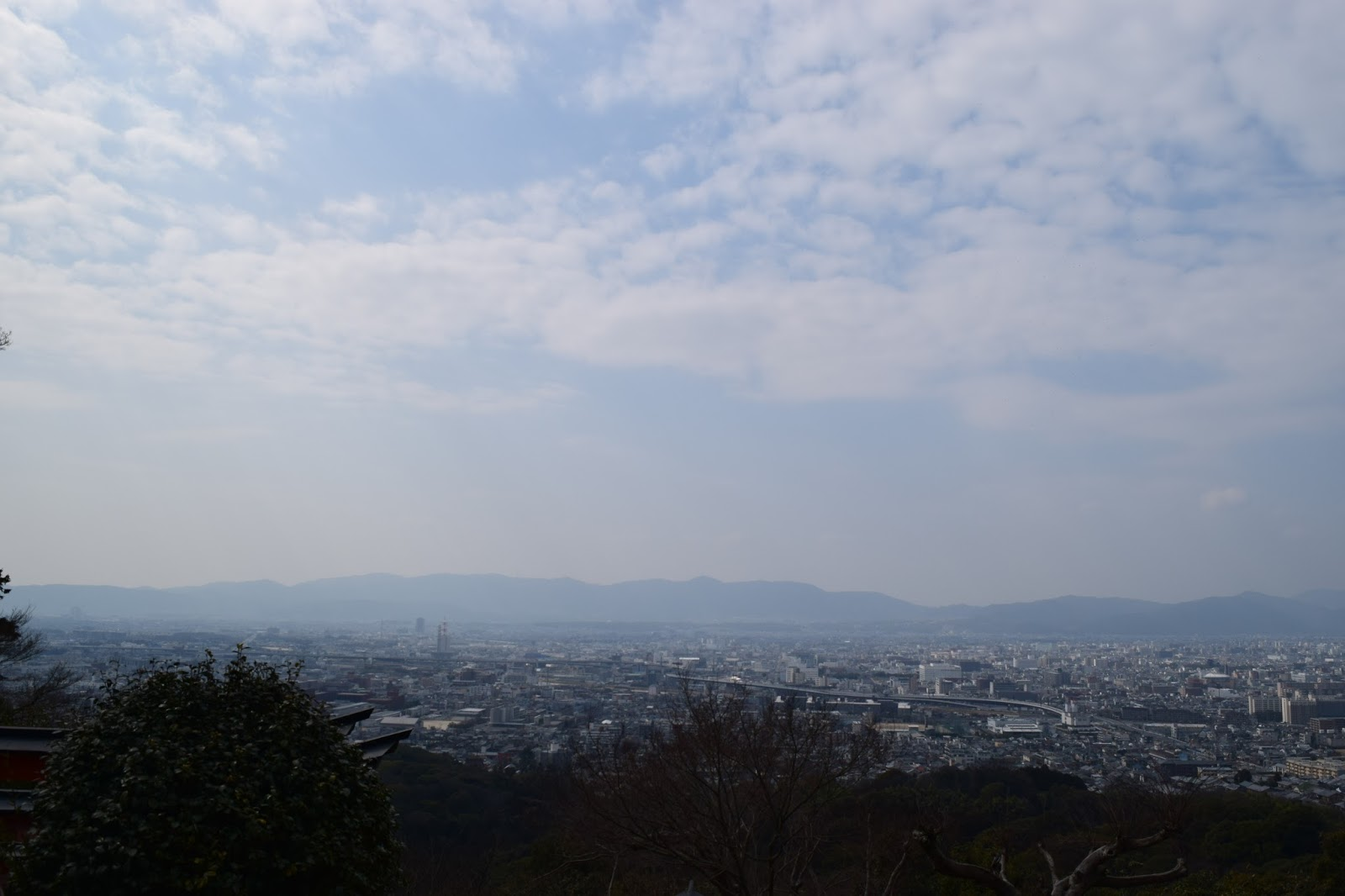 Kyoto cityscape view