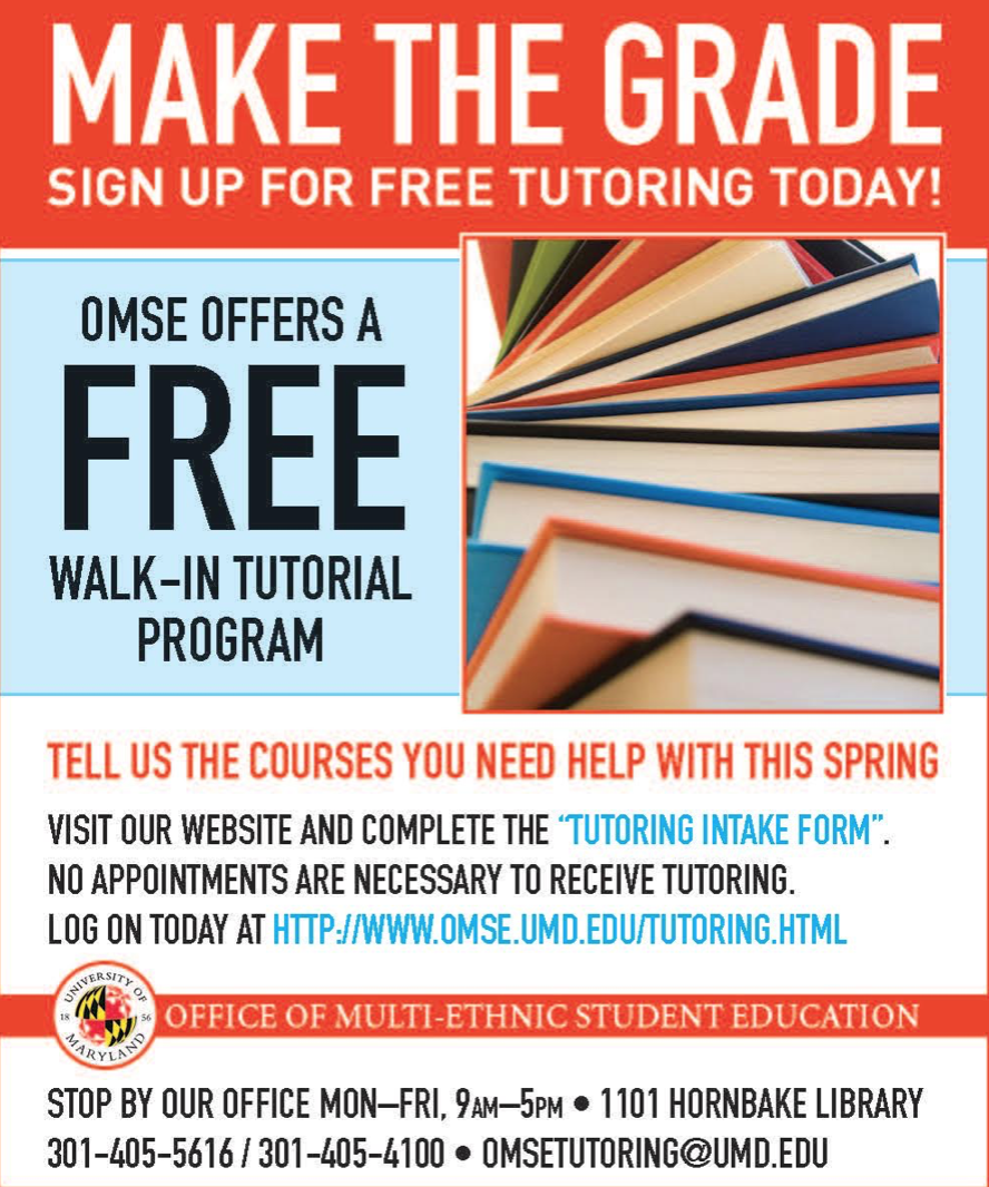 umd geographical sciences undergraduate blog: omse tutoring schedule