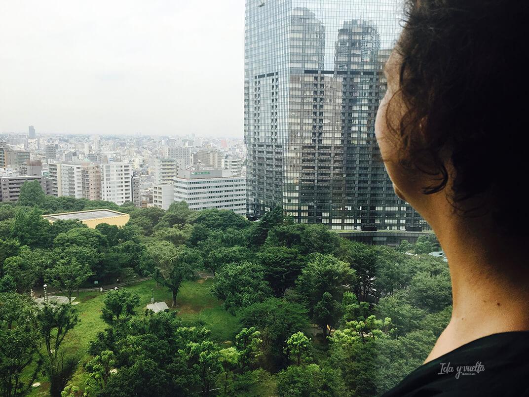 Vista desde nuestra habitación Hyatt Regency Tokio