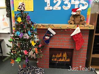 Classroom Fireplace, www.JustTeachy.com