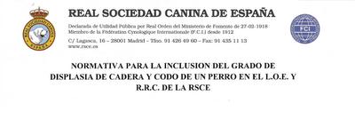 Normativa displasia RSCE