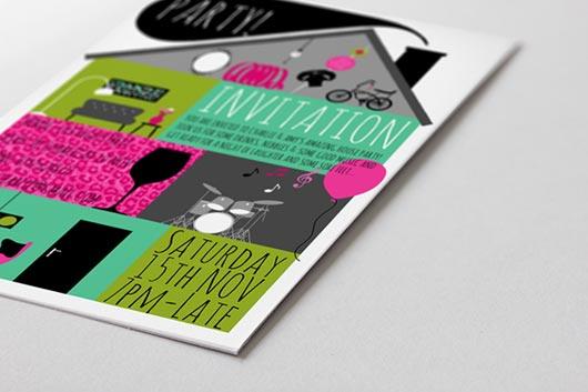 30 More Modern Birthday Invitation Card Designs - Jayce-o-Yesta