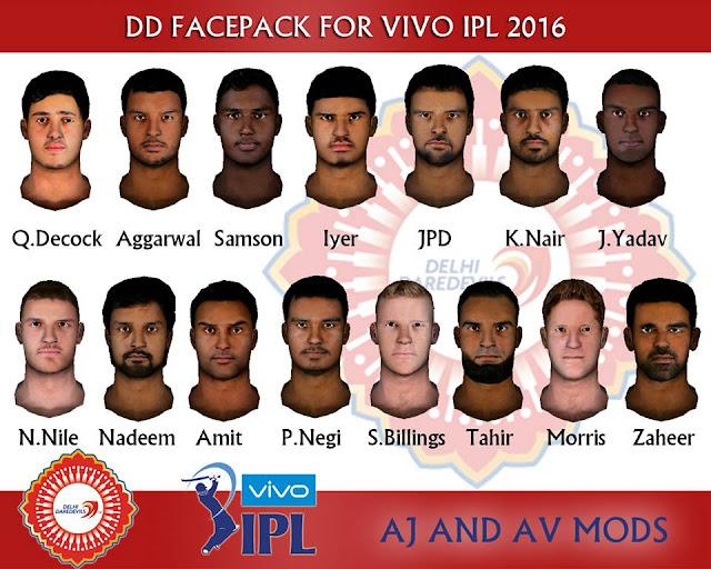 HD Studioz VIVO IPL 2016 Delhi Daredevils Facepack For Cricket 07