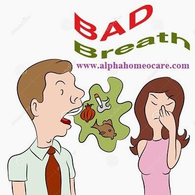 Bad breath or Halitosis and Homeopathy