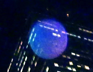 transparent blue orb