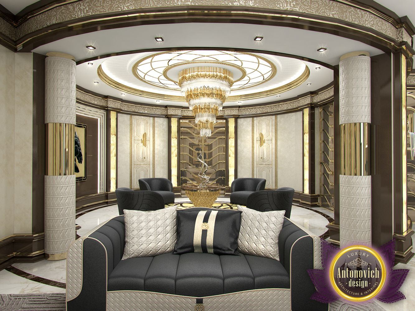 Luxury Antonovich Design Uae Master Bedroom In Modern Style Luxury Antonovich Design