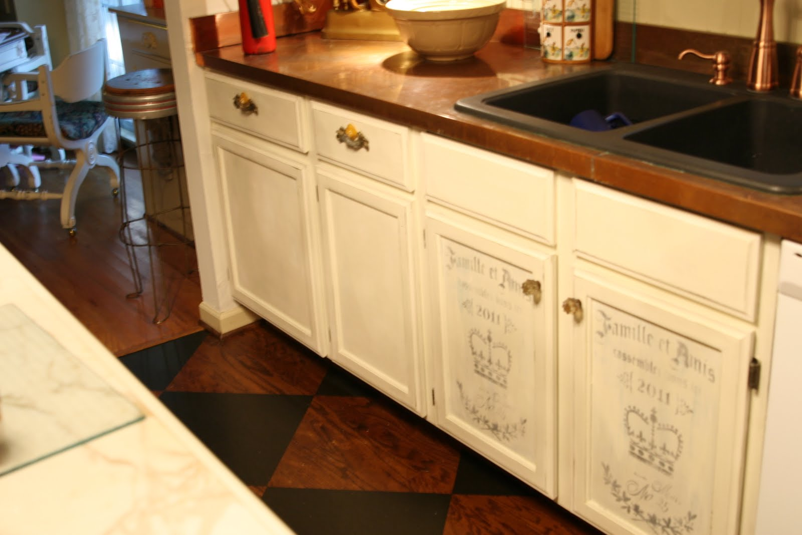 repainting kitchen cabinets long table old