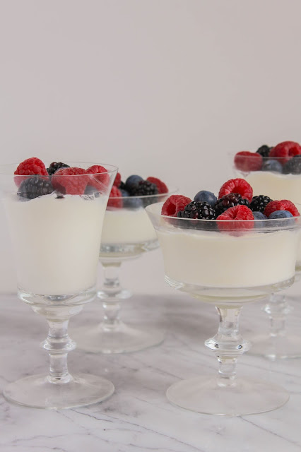 Panna Cotta with Fresh Berries | The Chef Next Door