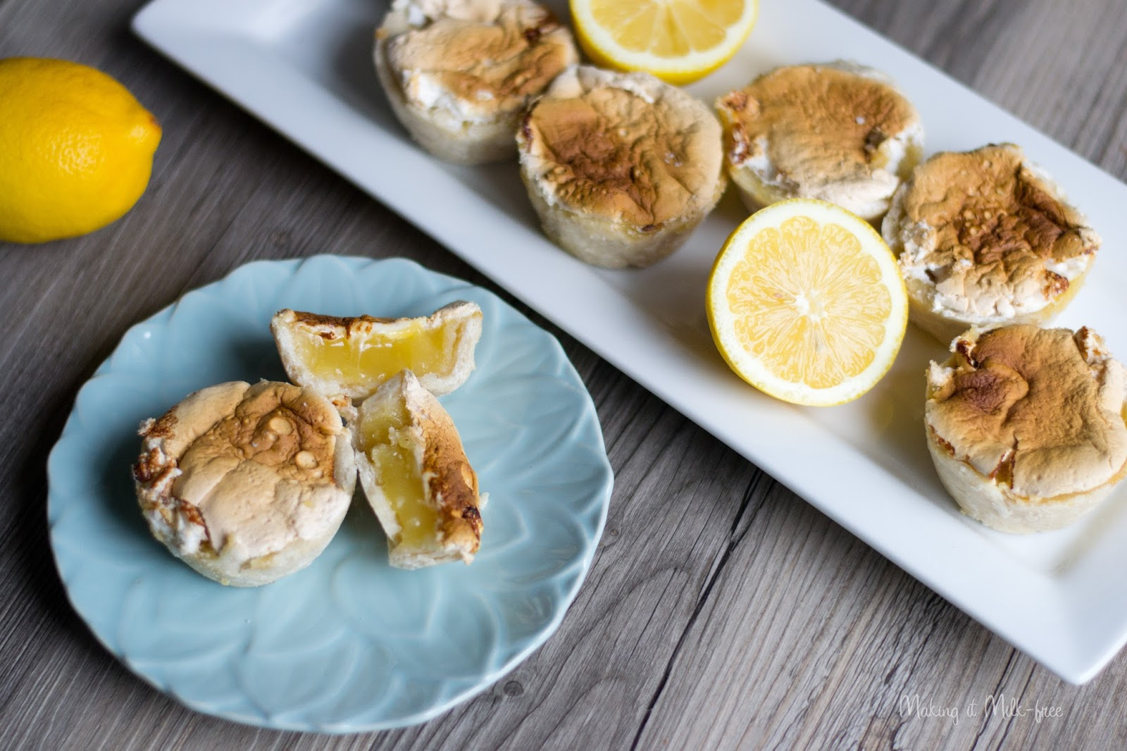 dairy free, gluten free mini lemon tarts from Making it Milk-free