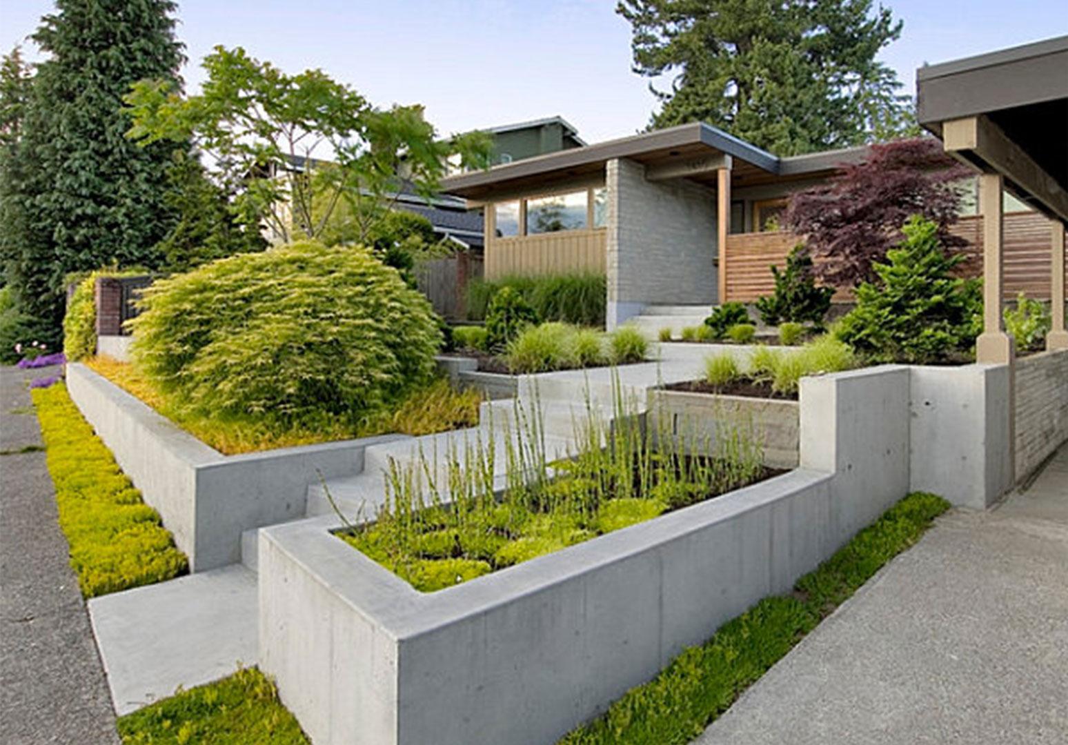 30 Desain Taman Depan Rumah Minimalis Modern Rumahku Unik