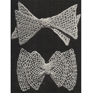 Pointed Crochet Bows Pattern