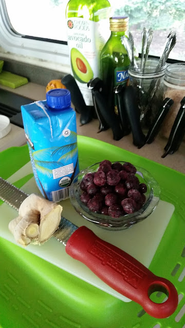 Blueberry and Coconut Water Switchel