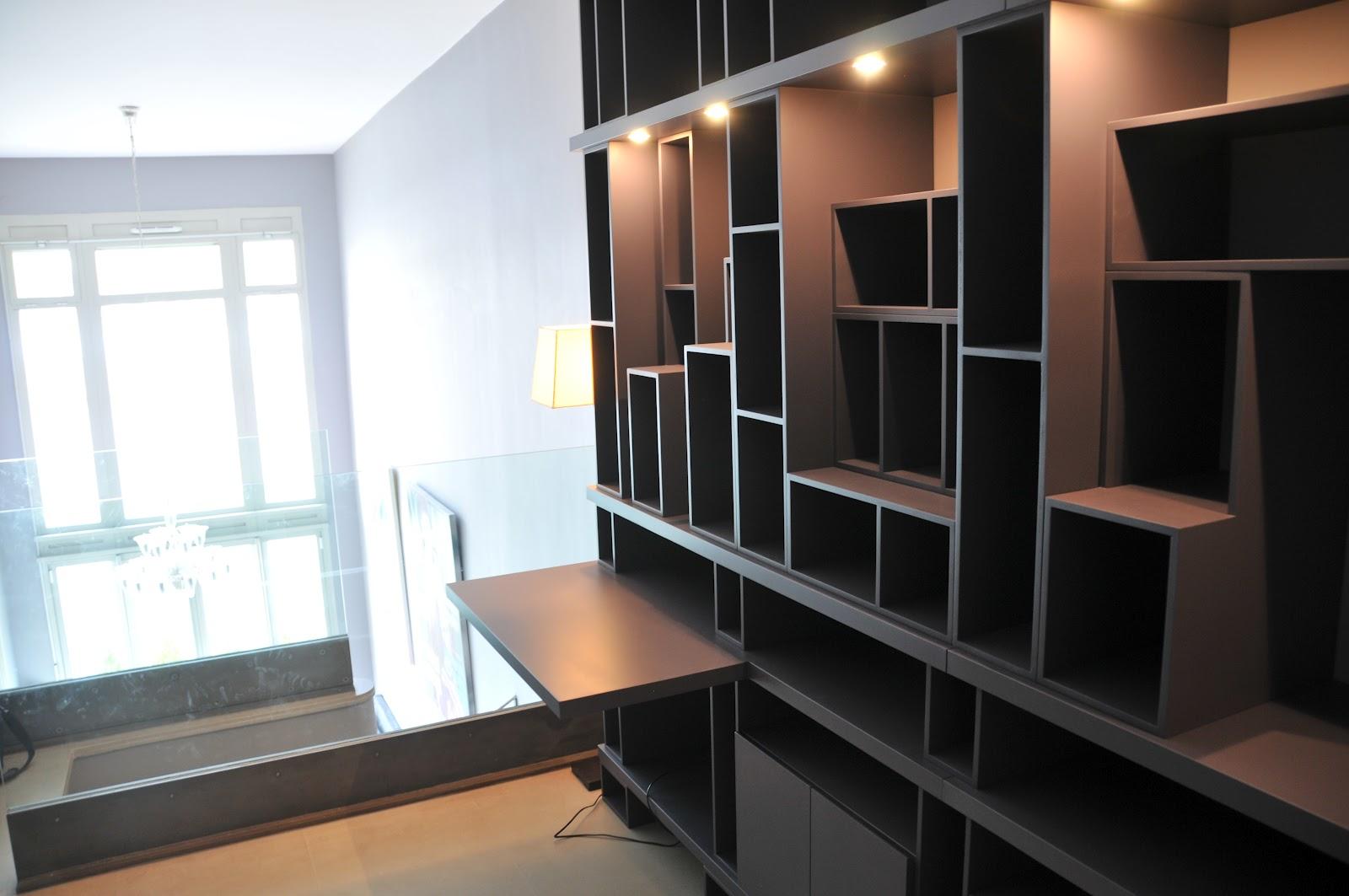 biblioth que bureau. Black Bedroom Furniture Sets. Home Design Ideas