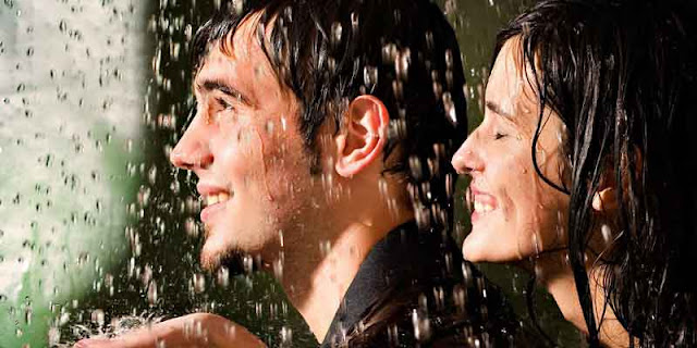 Couple Enjoying Monsoon