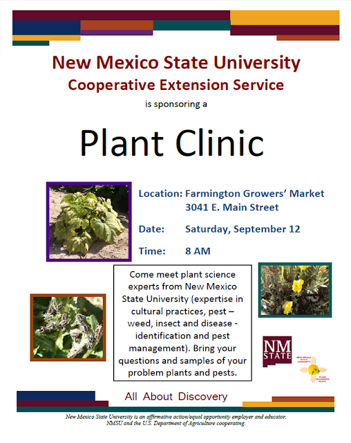 Advertising flyer announcing the Farmington Plant Clinic