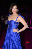 Mannara Chopra in Deep Neck Blue Gown at Zee Telugu Apsara Awards ~  Exclusive 027.jpg