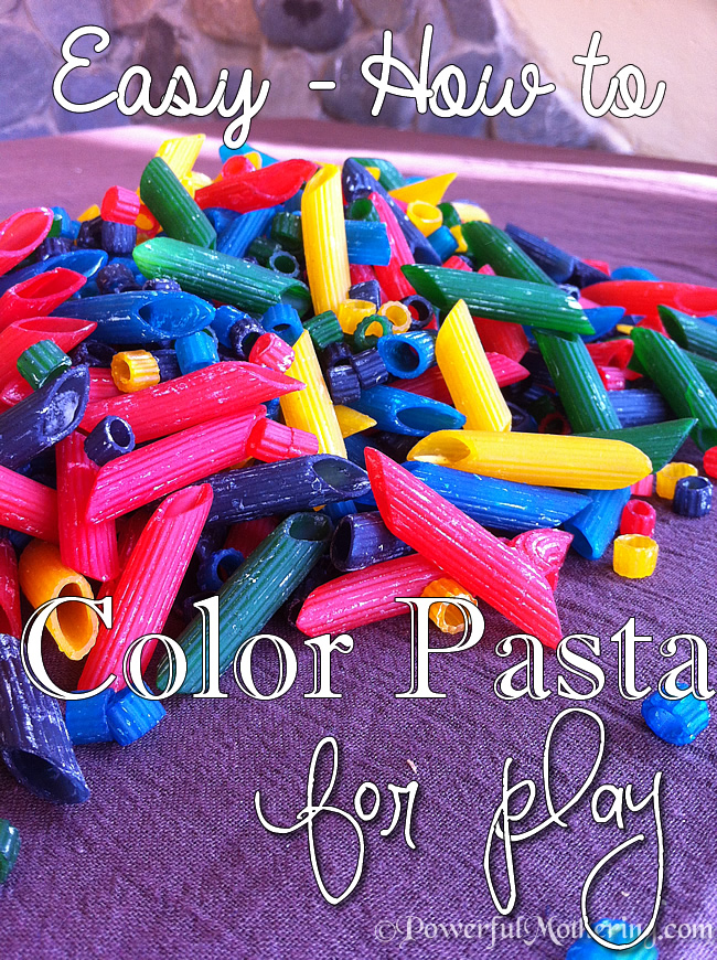 In En Om Die Huis How To Make Colored Pasta