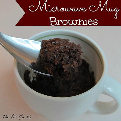 Single Serve Microwave Mug Brownies