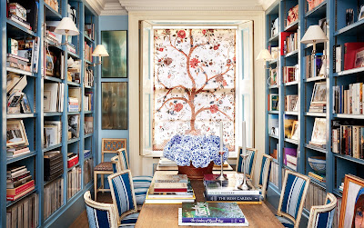Caroline sieber london home-library-belle vivir blog
