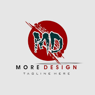 MD Design Font Brush Logo Template Free Download Vector CDR, AI, EPS and PNG Formats