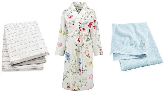 tekstylia do łazienki, akcesoria łazienkowe, szlafroki, ręczniki, zasłony łazienkowe,