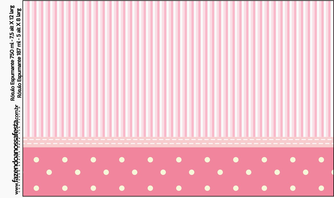 Pink And White Stripes And Polka Dots Free Printable Candy