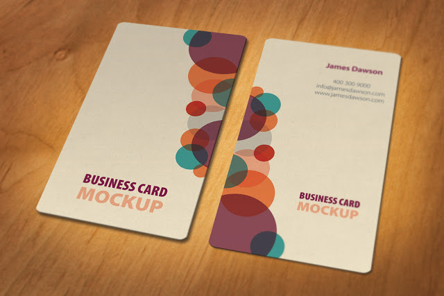 Business Card Mockup PSD file Free Download