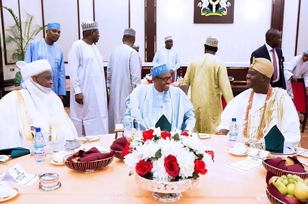 WOW! RESPECTFULLY..Buhari Hosted All Traditional Rulers in Nigeria (Photos)