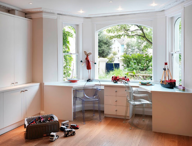 best custom white home office desk under window for two sale