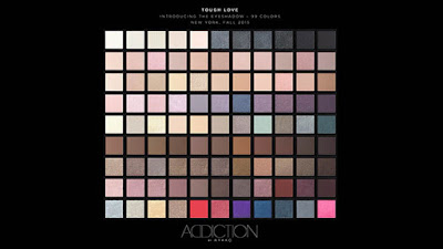 Addiction Fall 2015 New Eyeshadow Shade Names