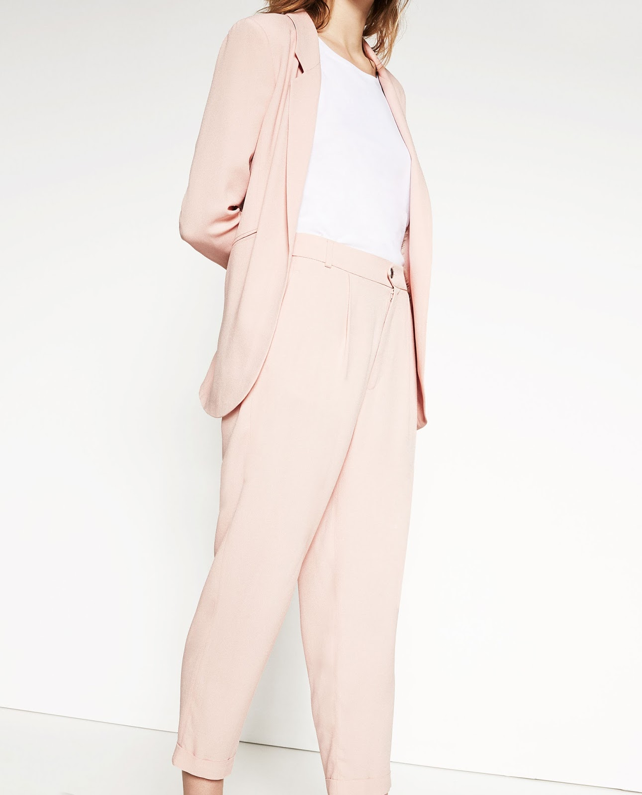 Blush Zara suit