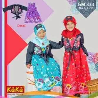 Model Baju Muslim KeKe Anak Laki-laki dan Perempuan Terbaru