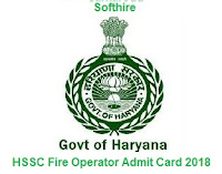 HSSC Fire Operator Admit Card