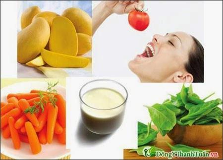 Thực phẩm chữa bệnh hôi miệng giàu vitamin A
