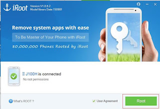 Cara Root Samsung Galaxy J1menggunakan Iroot