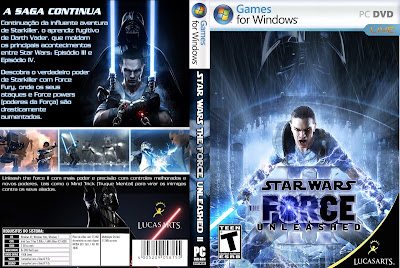 Jogo Star Wars The Force Unleashed PC DVD Capa