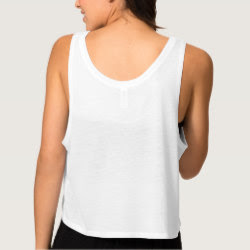 Custom Womens Flowy Boxy Crop Tank Top - Back