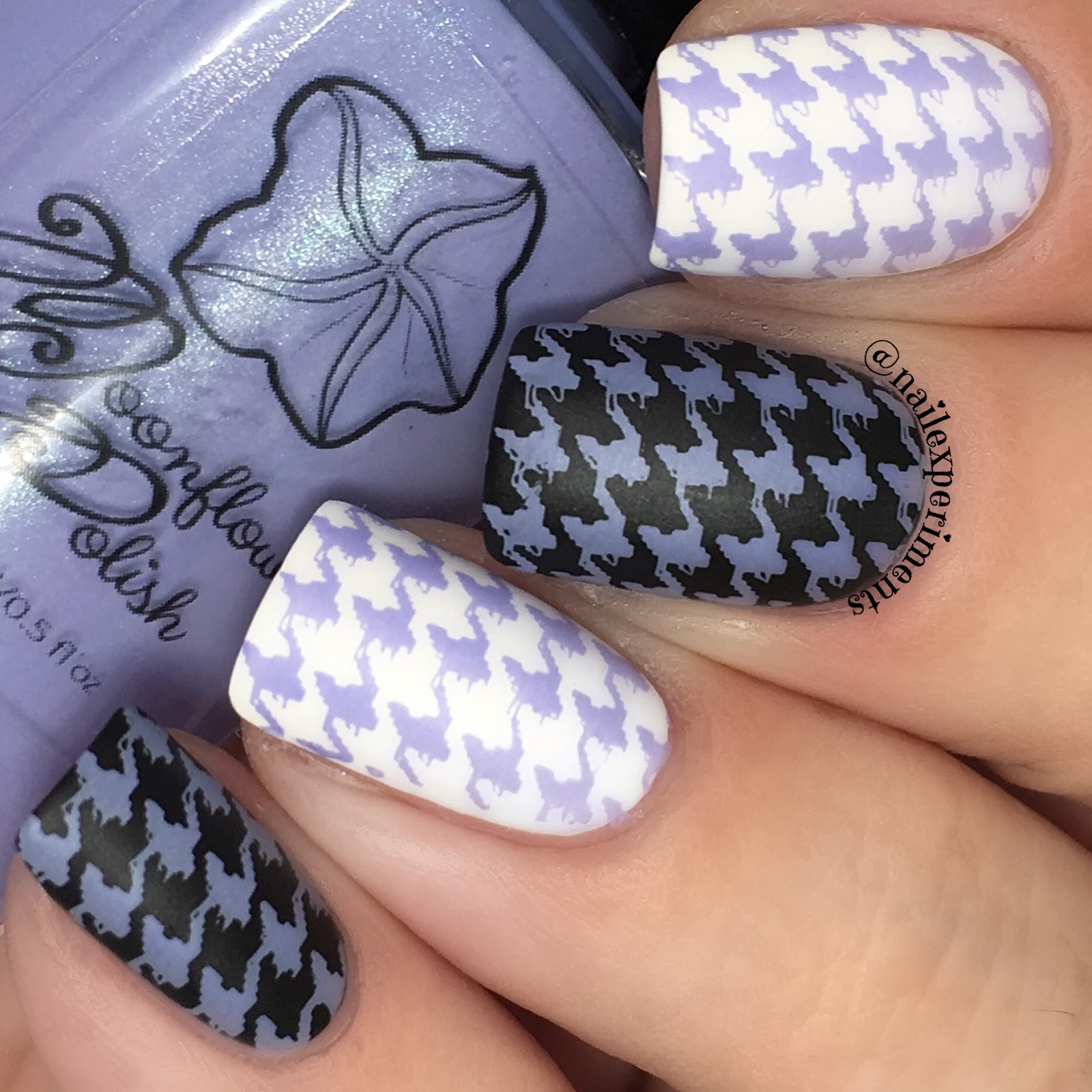 Moon flower polish periwinkle swatch