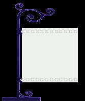 Plaquinha cute branca - Criação Blog PNG-Free