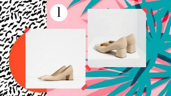 Khaki Vintage Heels Suede Block Heel Square Toe Pumps