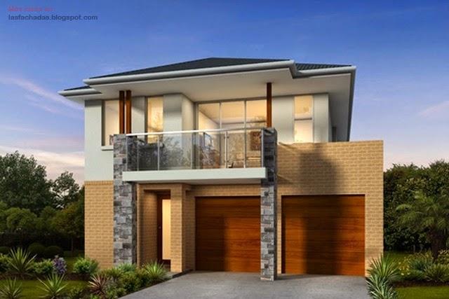 fachadas de casas de dos pisos modernas fachadas de