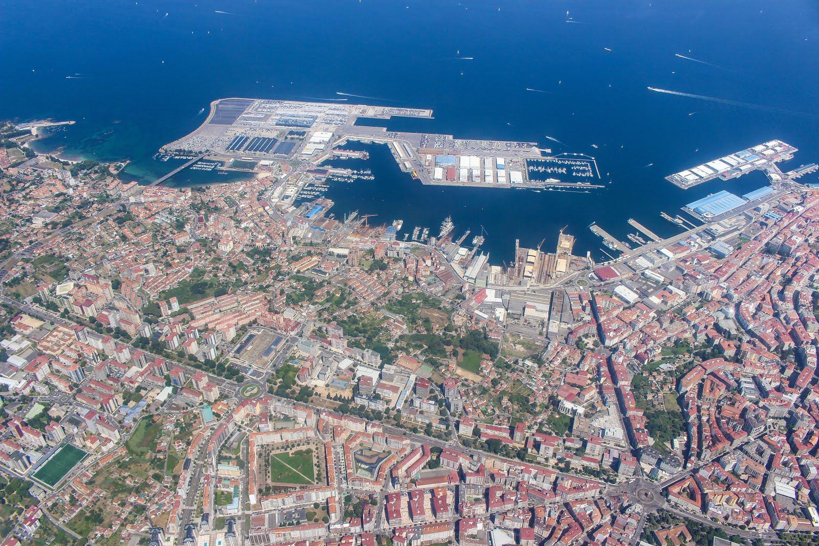 Puerto de Vigo desde el aire