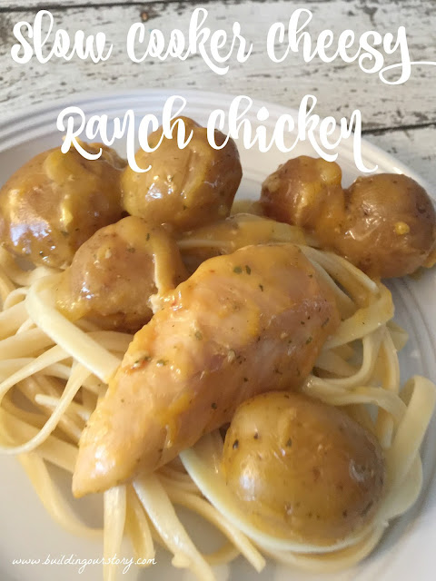 Slow Cooker Cheesy Ranch Chicken, Slow Cooker Cheesy Ranch Chicken and potatoes, crock pot cheesy ranch chicken, crockpot cheesy ranch chicken, easy slow cooker meals, cheesy chicken recipe, easy crock pot meals, kid friendly meals, chicken crock pot meals, chicken slow cooker meals, dinner ideas for families,