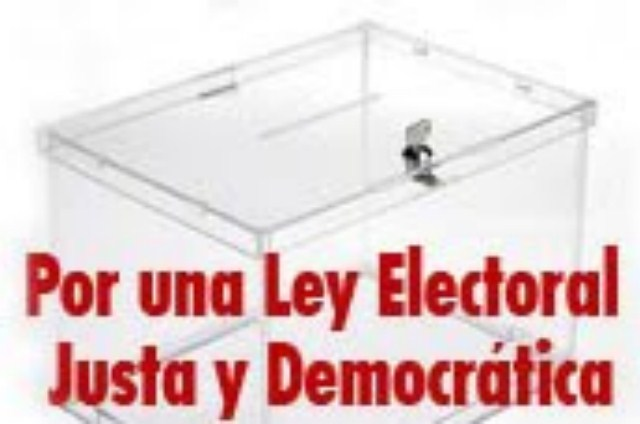 Por una nueva ley electoral