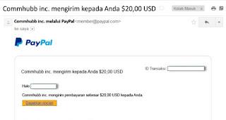 bukti pembayaran dari member Indonesia