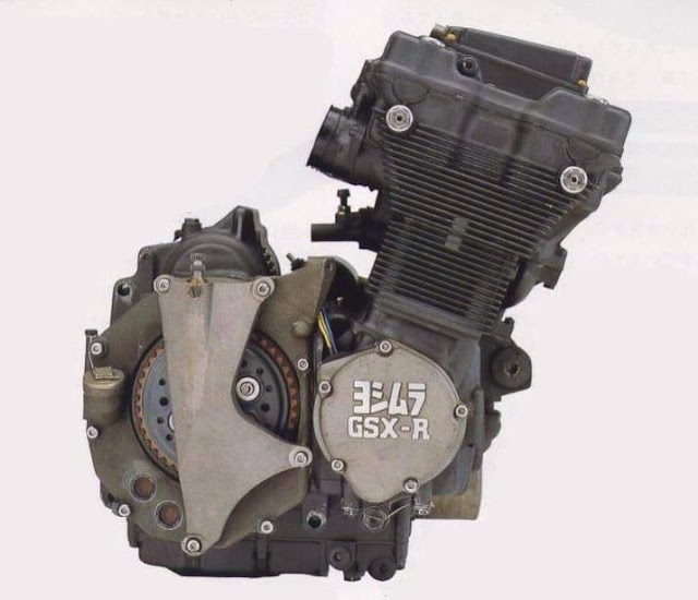 Yoshimura Suzuki GSXR race engine with dry clutch