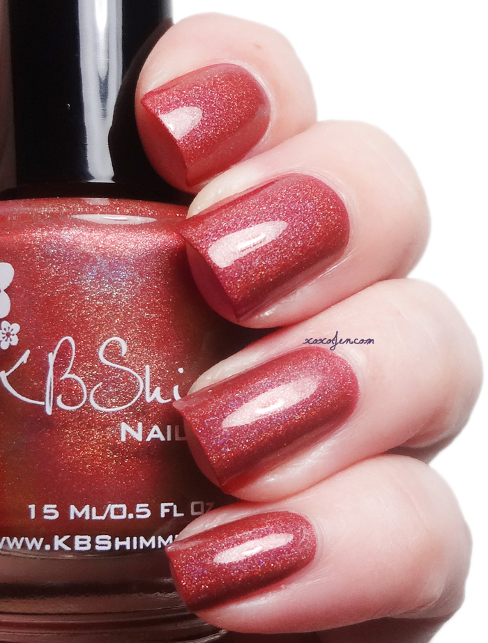 xoxoJen's swatch of KBShimmer: Men Are From Mars-ala