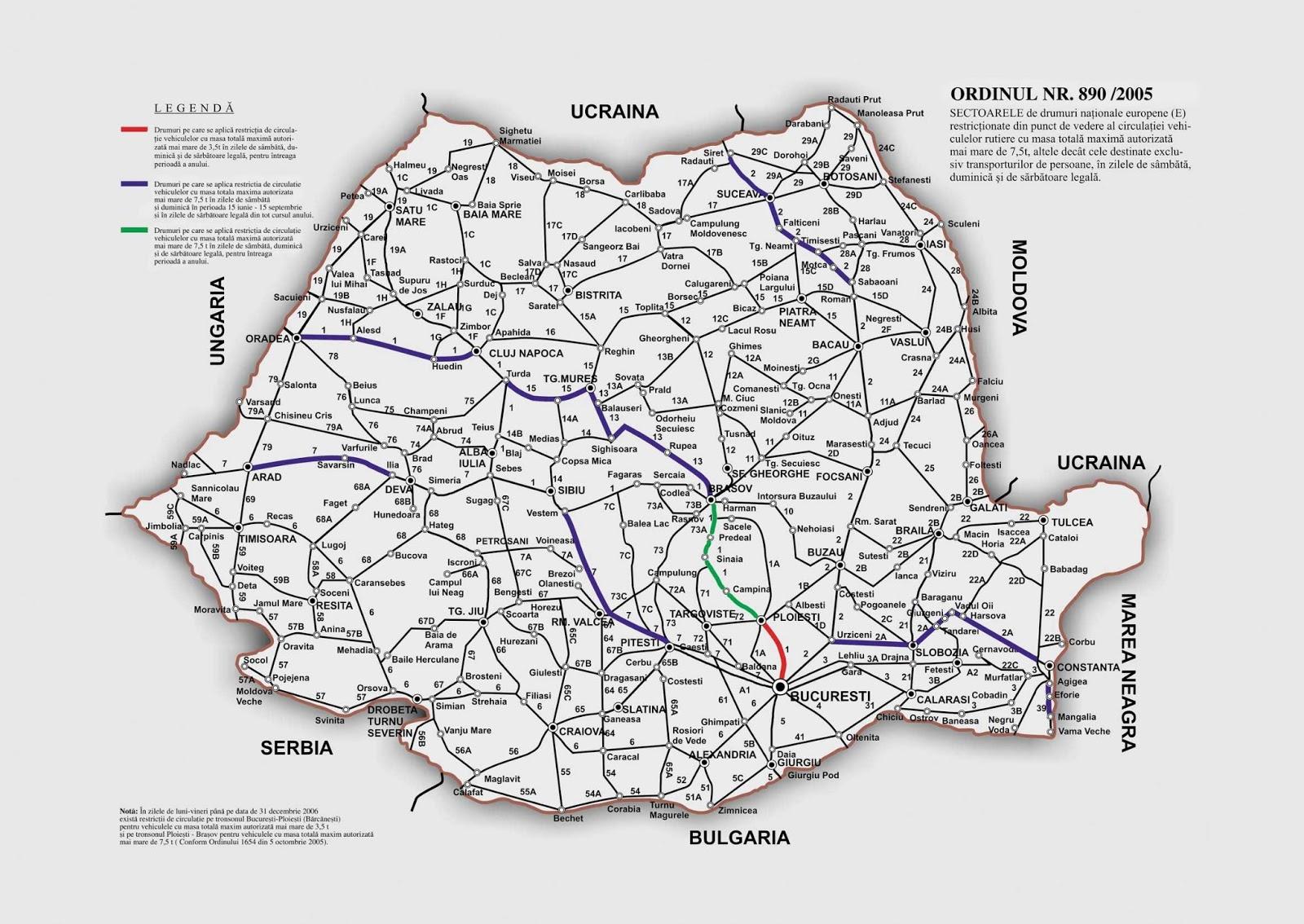 Harta Rutiera A Romaniei Detaliata Harta Romaniei Rutiera Detaliata
