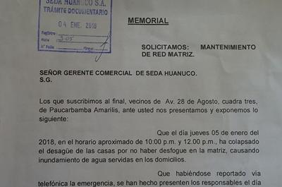 Seda Huánuco no atiende quejas de ciudadanos